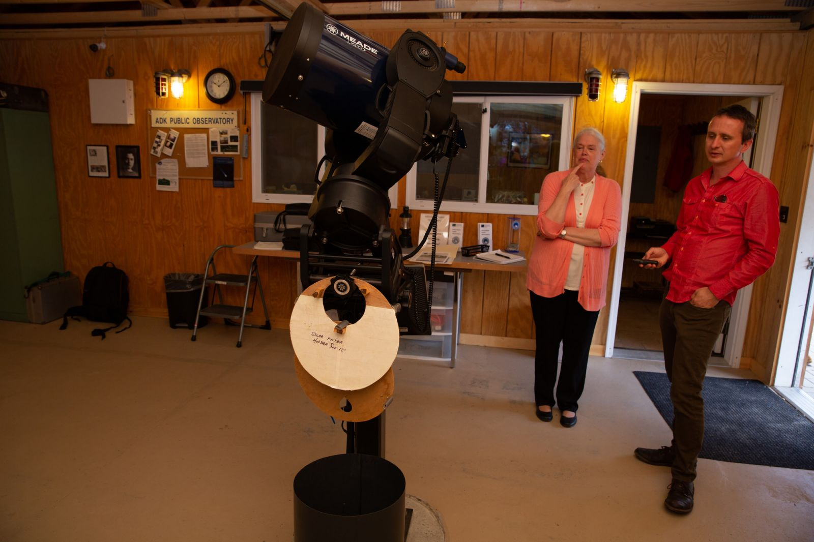 Mary Beth Joel gave me an extensive tour of the Adirondack Public Observatory.