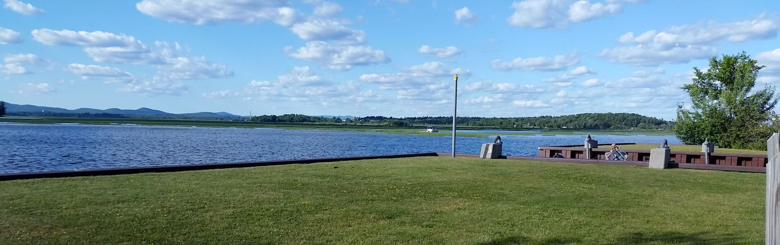 The Route 30 boat launch is a great place to start your bike ride.