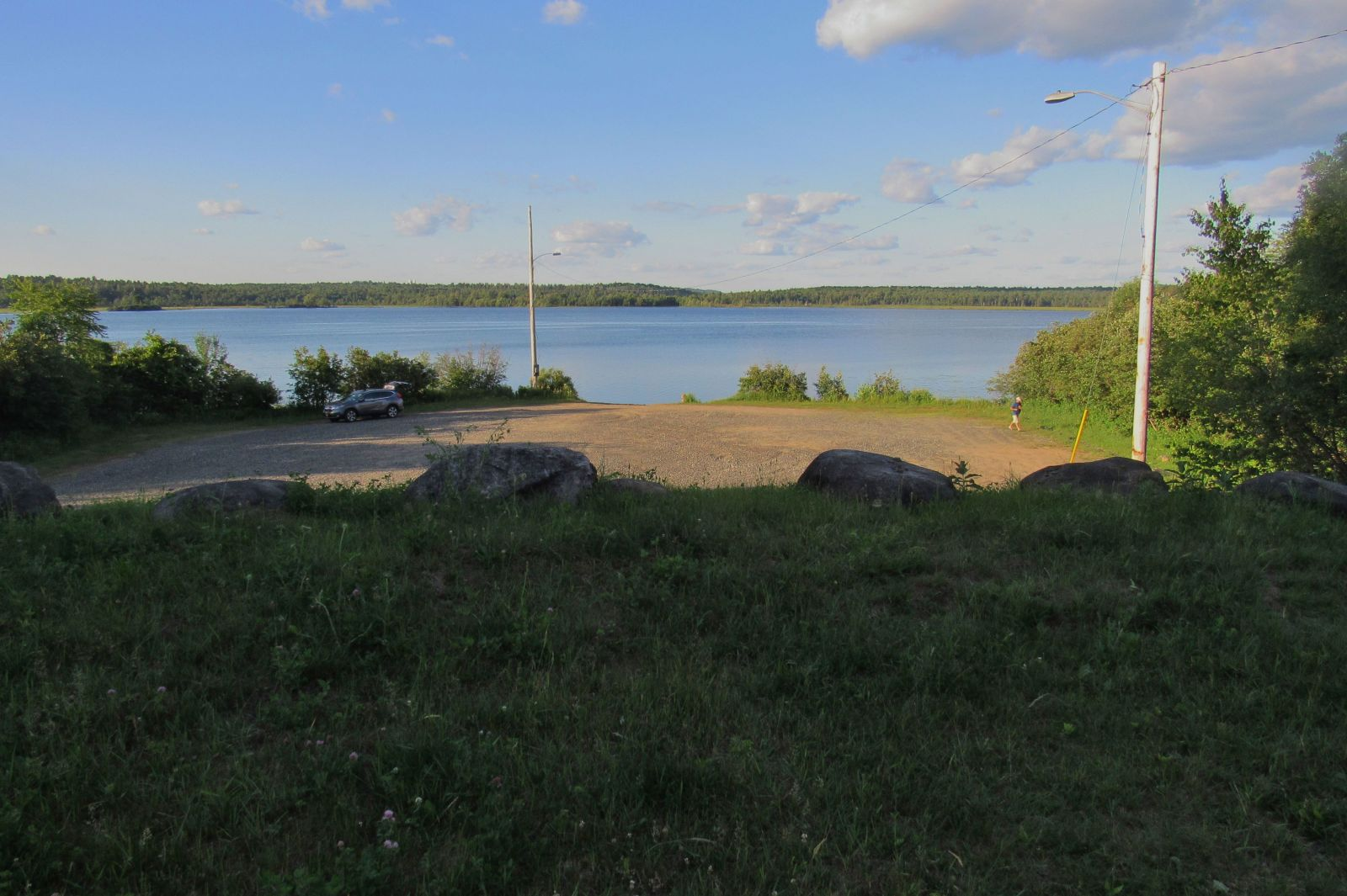 The boat launch off of Lake Simond Road is a great place for lunch and a swim!