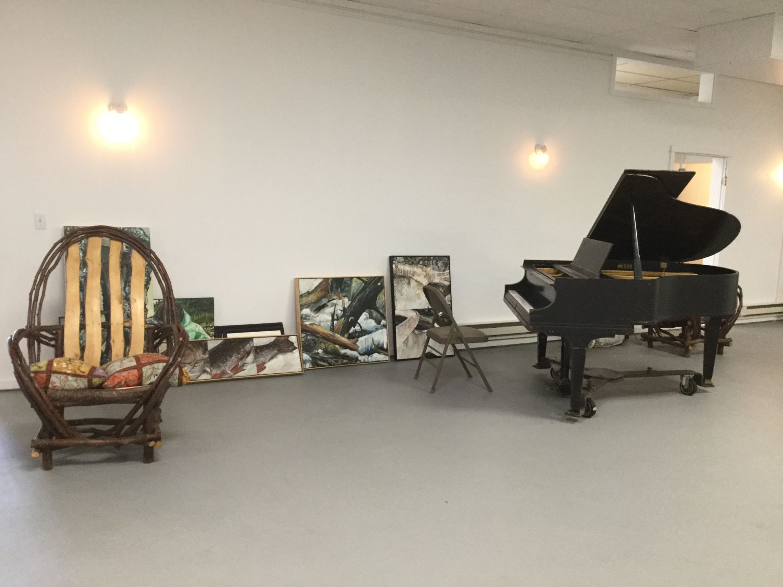 The piano was donated as part of the music program.
