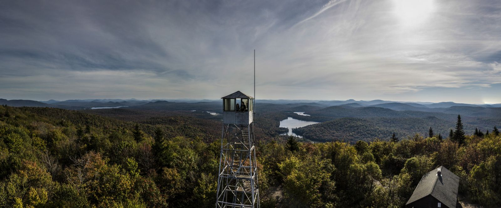 The fire tower on Mount Arab's summit.