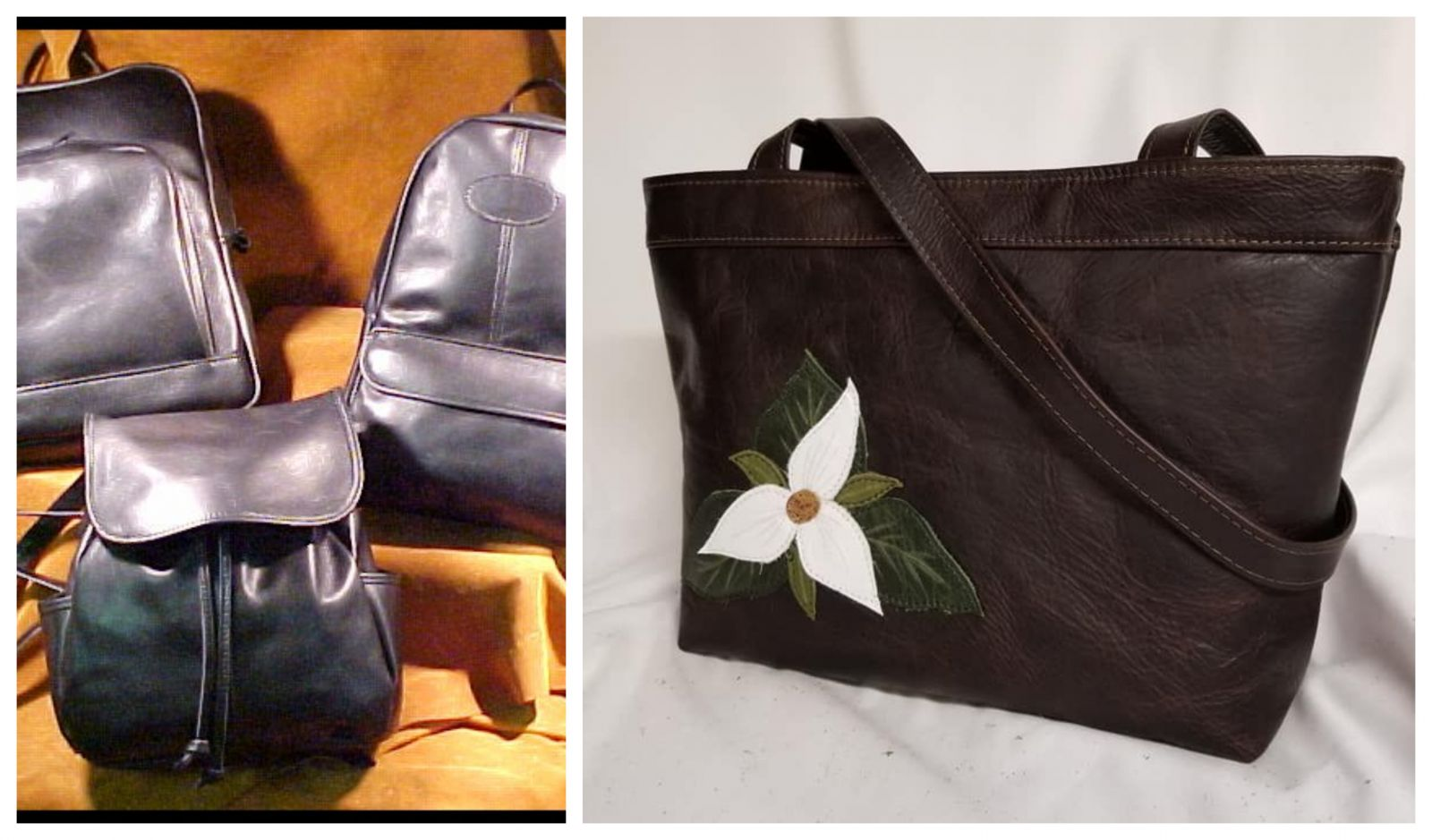 Beautiful leather goods from the Leather Artisan.