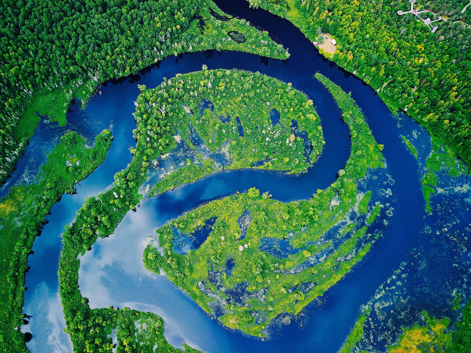 Bird's-eye view of the oxbow