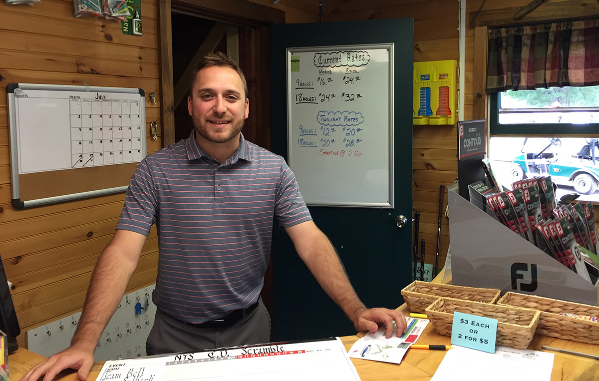 Tupper Lake Golf Course's Director of Golf, Evan LaBarge