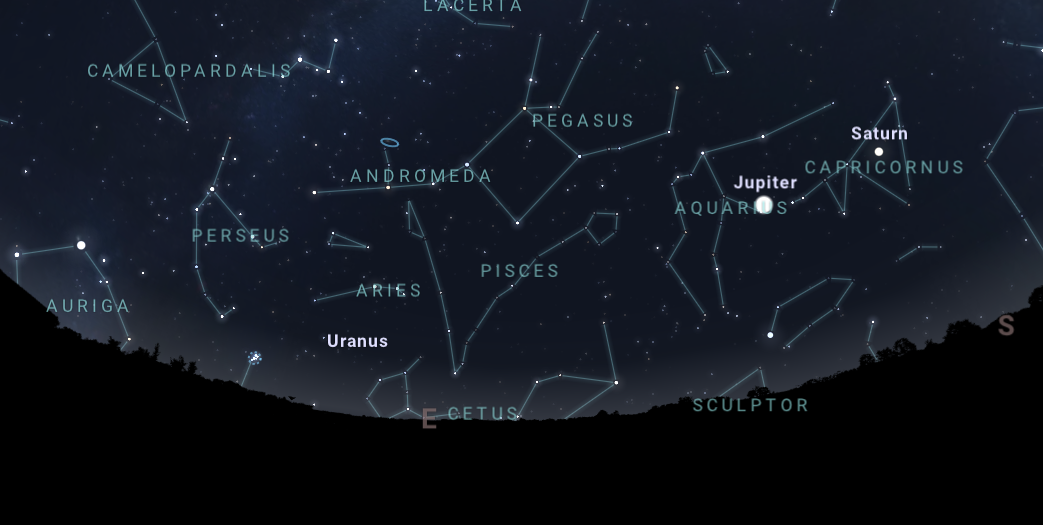 Illustration of the night sky on August 13, showing the location of the constellation Perseus.