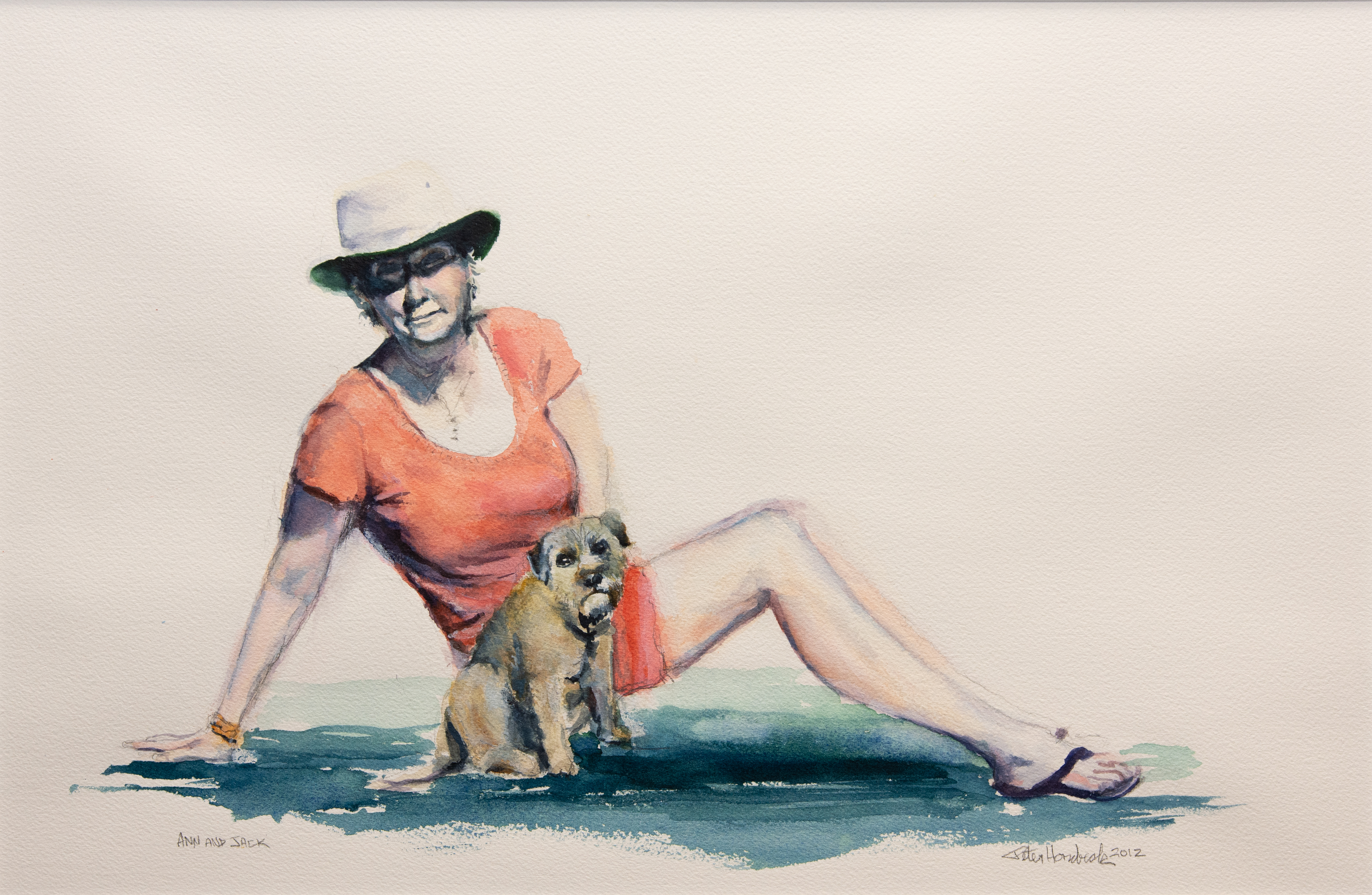 Peter Hornbeck's painting of his wife, Ann, and their dog, Jack. Image courtesy Leigh Hornbeck