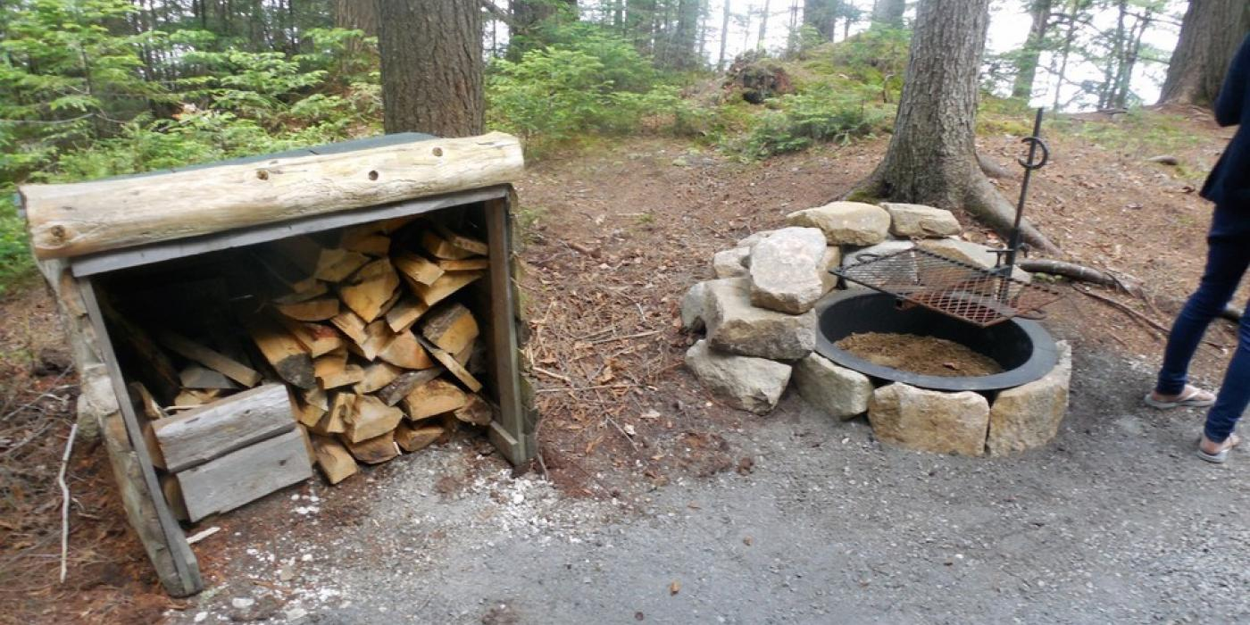 Some state campsites will have fire pits provided.