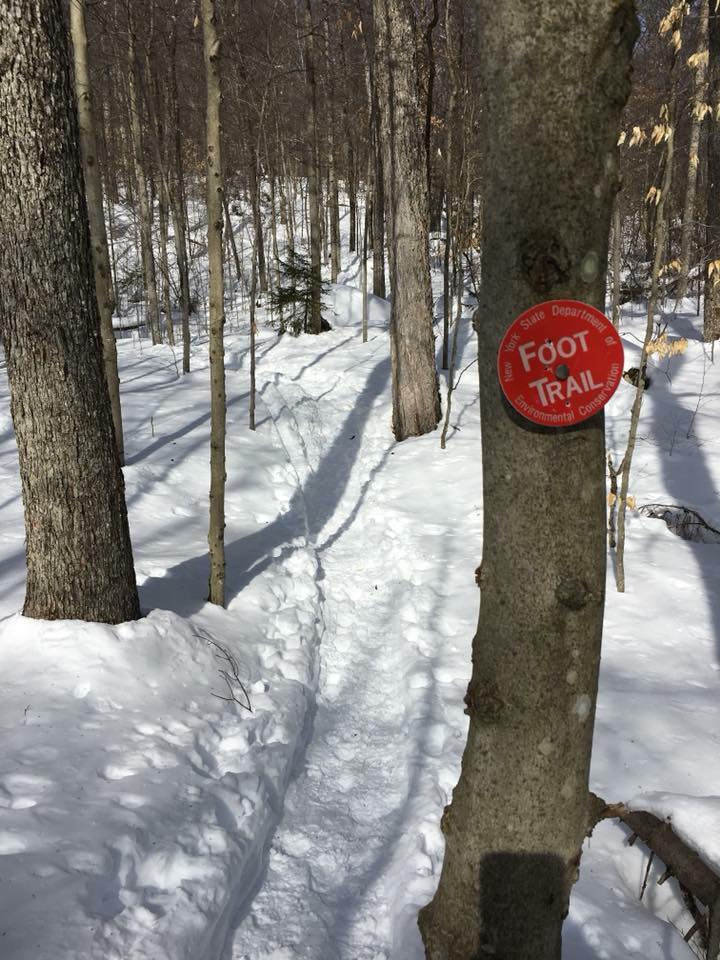 Follow trail markers to stay on the trail.