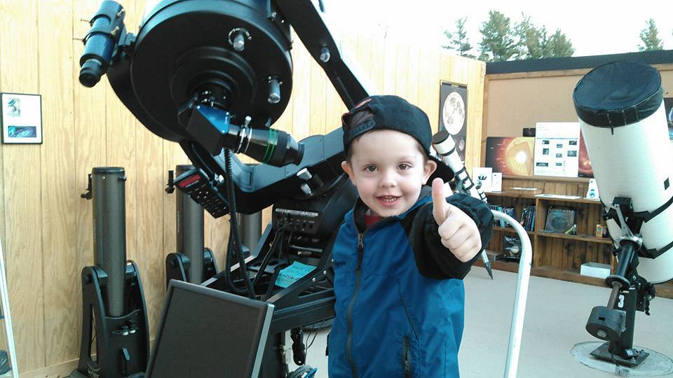 Thumbs up for astronomy! Photo: Adirondack Public Observatory
