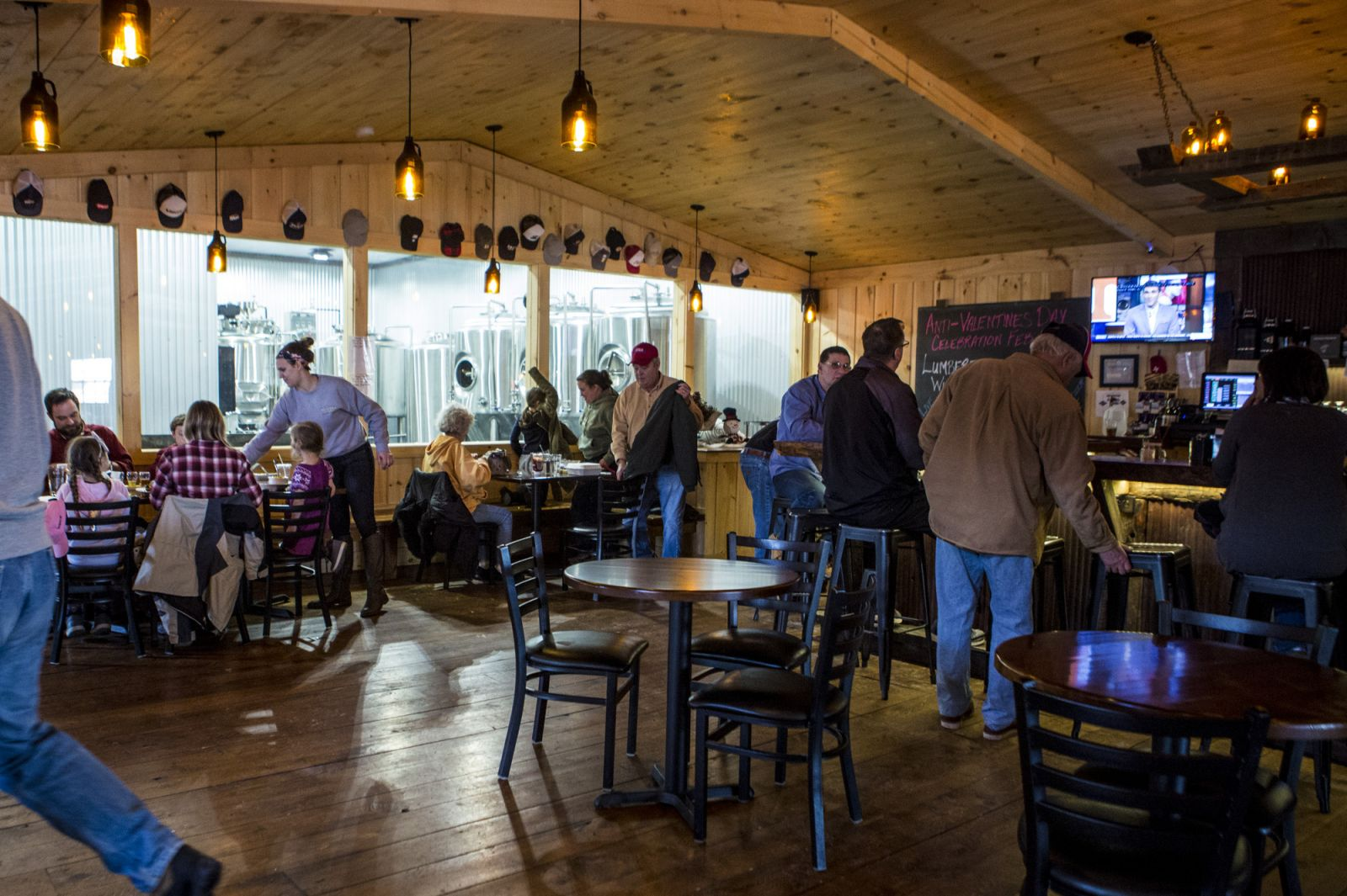 Big Tupper Brewing is a lively place for lunch or dinner.