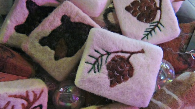 These soaps are made from goats milk, but also covered with handmade, felted alpaca fur for a hypoallergenic loofa effect. Now that will make someone feel special!