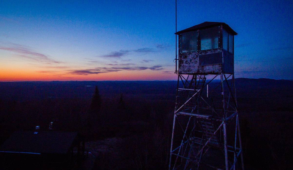 The fire tower on Mount Arab is one of the most easily accessed in the Adirondacks.