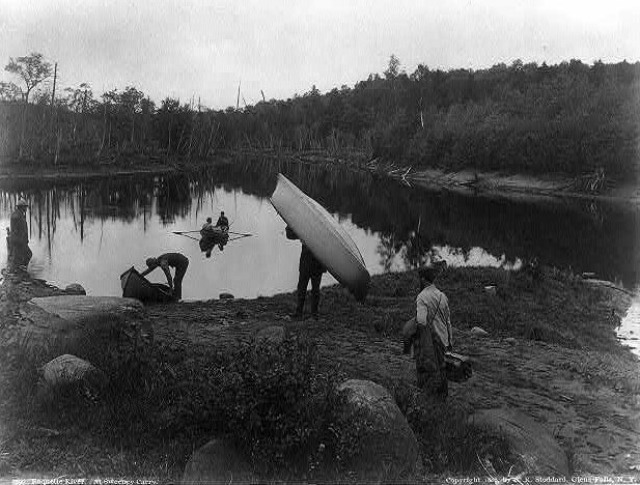 Raquette River at the Sweeney Carry, 1888. Photo by Seneca Ray Stoddard.