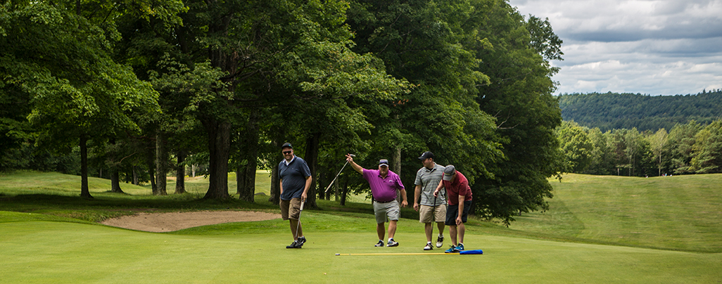 The Tupper Lake Golf Club welcome wave.
