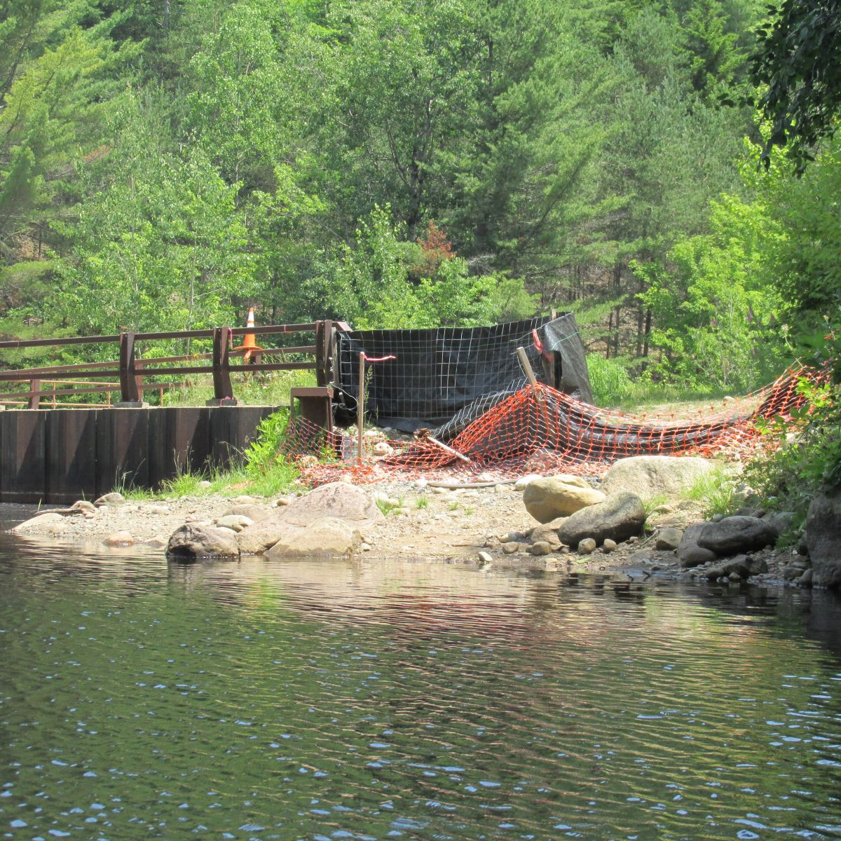 Previous put-in was closed off due to renovations on the Upper Dam