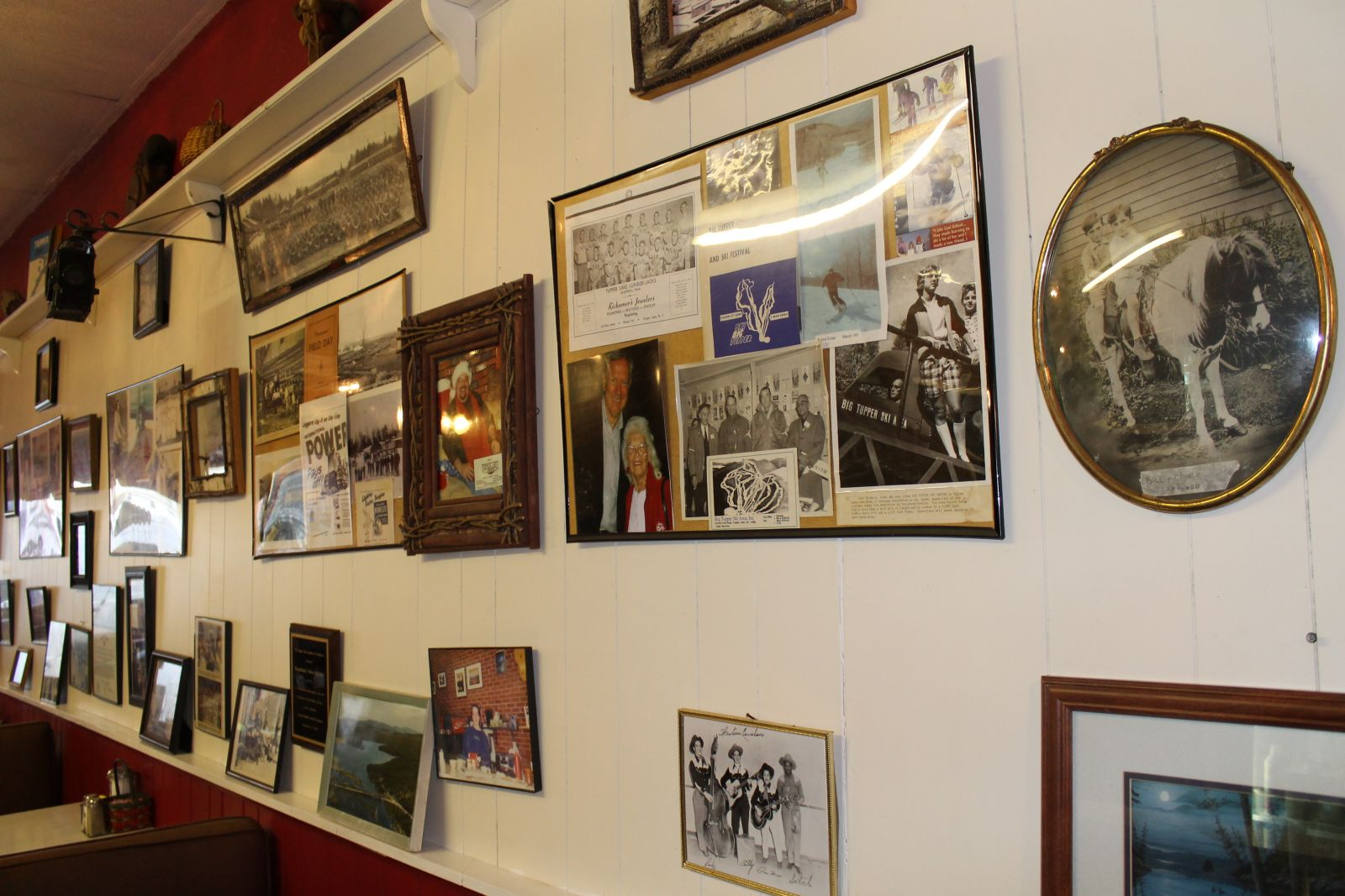 The Swiss Kitchen's wall of history!