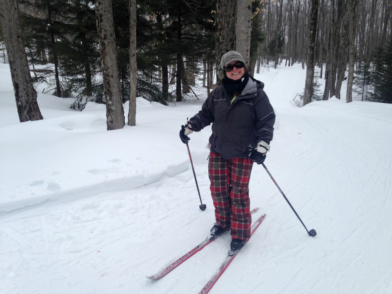 Skiing at the Tupper Lake Groomed Cross Country Ski Center.